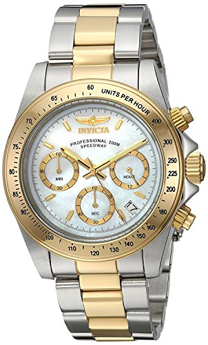 Invicta 24769 Speedway  Unisex Wrist Watch Stainless Steel Quartz White Dial