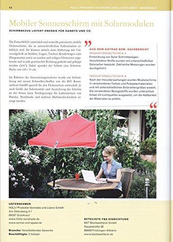 Hollysun®55 Compartiments parapluie rouge + Support – Fixation De jusqu'à 35 mm Ø