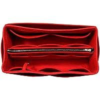 [Passt Graceful MM, rot] Geldbörse einfügen (3 mm Filz, abnehmbare Tasche w/Metall-Zip), Filz Tasche Organizer