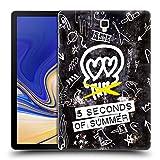 Head Case Designs Offizielle 5 Seconds of Summer Schnell Tropfen Doodle Ikonen Ruckseite Hülle für Samsung Galaxy Tab S4 10.5 (2018)