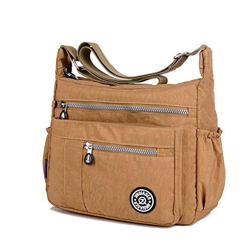 MeCooler Umhängetasche Leichter Messenger Bag Kuriertasche Damen Lässige Sporttasche Wasserdicht Taschen Schultertasche Mode Reisetasche