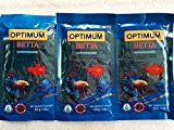 Optimum Betta Fighter Colour and Tails Growth Food for Fish (60 g)- Set