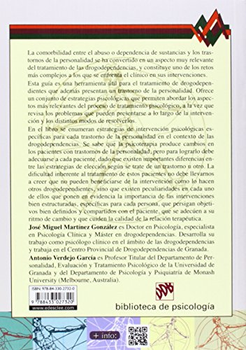 Drogodependientes con trastorno de la personalidad: Guía de intervenciones psicológicas (Biblioteca de Psicología) leer libros online gratis en español