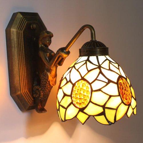 Uncle Sam LI - mur du jardin de tournesol européenne miroir Lampe frontale lampe chaude de chevet de la chambre à fuselage large lampe de coin escaliers
