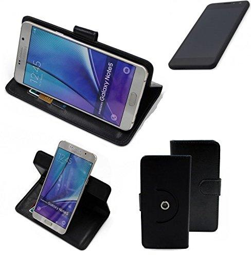 K-S-Trade® Case Schutz Hülle Für -Shift Shift5.3- Handyhülle Flipcase Smartphone Cover Handy Schutz Tasche Bookstyle Walletcase Schwarz (1x)