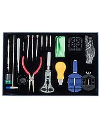 SODIAL(R)Set de herramientas para reparacion de relojes (20 piezas)