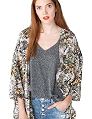 Culater® Mujeres Abrigo Impreso Floral De La Gasa De La Chaqueta Kimono Cardigan Remata La Blusa (M)