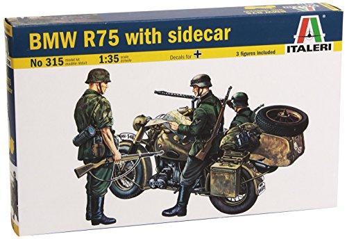 Italeri 0315S - BMW R 75 mit Beiwagen (Motorrad-build-kit)