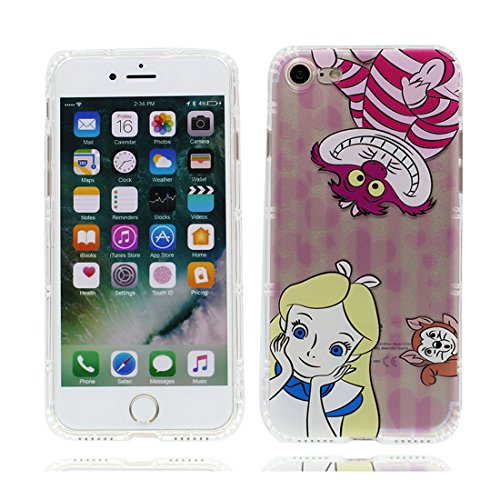iPhone 6 Custodia, Prova di scossa anti-graffio [ Cartoon Disney sirena ] TPU Silicone Trasparente Nuovo Gel Soft Case iPhone 6/6S Custodia (4,7 pollici) durevole Cartoon Cover # # 3