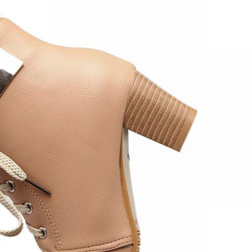 MissSaSa Donna Scarpe col Tacco Metà Elegante e Casual albicocche