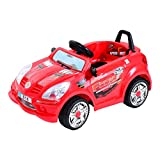 HOMCOM Children Kids Electric Ride On 6V Battery Operated Toy Car w/Seat Belt (Red)