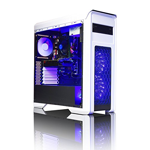 Best Price ADMI GTX 1060 GAMING PC: High-End Gaming Desktop Computer: AMD Piledriver FX-8300 8 Core 4.2GHz Turbo CPU / NVIDIA GeForce GTX 1060 3GB GDDR5 4K Graphics Card / 8GB 1600MHz DDR3 RAM / 1TB Hard Drive / 500W PSU Bronze Rated / HD Audio / USB 3.0 / HDMI/4K Ultra HD Support / Game Max Falcon White / Blue LED Gaming Case / DVDRW 24x / Pre-Installed with Windows 10 on Line