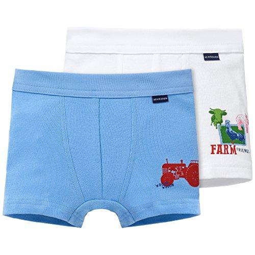 Schiesser Jungen Boxershorts Hip Shorts, 2er Pack, Gr. 116, Mehrfarbig (sortiert 1 - Jungen Traktor Unterwäsche
