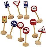 Goula - Saco señales de tráfico, 16 señales de madera (Diset 50211)