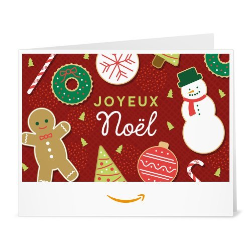 Chèque-cadeau Amazon.fr - Imprimer - Friandises de Noël