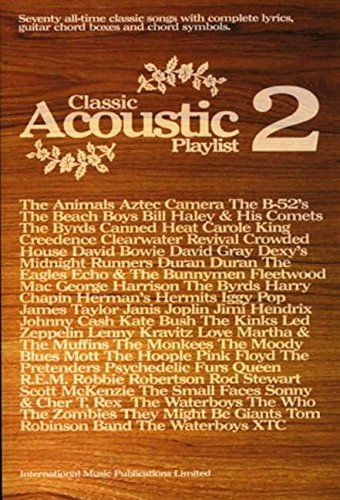 Classic Acoustic Playlist 2: (Chord Songbook): v. 2