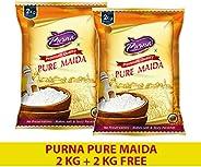Purna Pure Maida - 2 kg (Pack of 2)