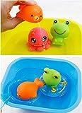 I giocattoli possono galleggiare sull'acqua e suonano quando se lo spreme.Nel processo di giocare con questi giocattoli, è possibile migliorare la coordinazione occhio-mano e lo sviluppo dell'intelligenza bambini. Godersi il bagnetto, a partire da...