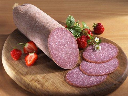 Schweinefleisch-Bauernhaus-Mettwurst, Stück ca. 400g