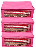 #10: Kuber Industries™ Non Woven Saree Cover 3 Pcs combo (Pink)