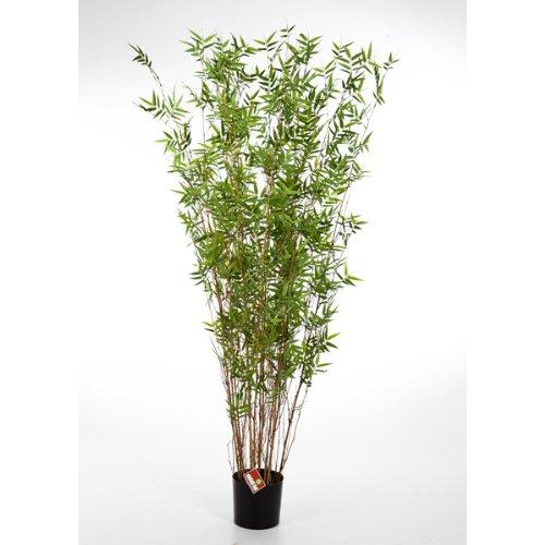 artplants Deko Bambus-Busch DAYA, mit 600 kleinen Blättern, 70 cm – hochwertiger Kunstbambus/Künstlicher Bambus