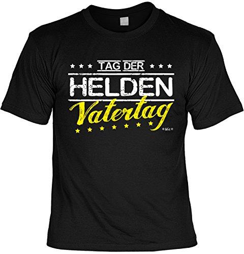 Fun T-Shirt zum Vatertag: Tag der Helden. Vatertag - Geschenk, Geburtstag, Vatertagsausflug - schwarz Schwarz