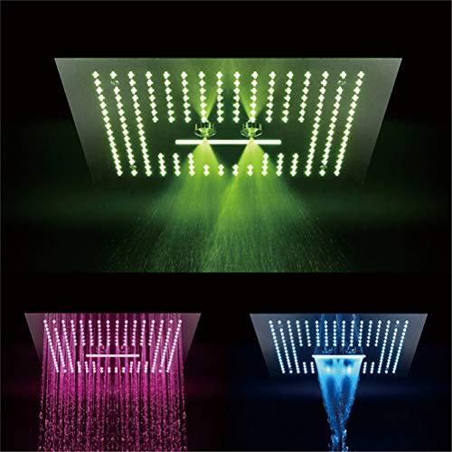 MEME Doccia a Scomparsa Top Spray 400x400 LED Cromo Spray in Acciaio Inox Spray Bar Doccia Hotel Villa