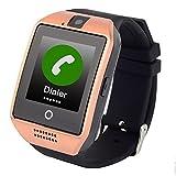 Lemumu Neue Q 18 GPSWIFI Positionierung Puls Blutdruck Telefon beobachten Kinder alter Mann Positionierung Watch Sos für Hilfe, Gold