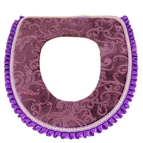 Provide The Best Bathroom Soft Thicker Warmer Washable Cloth Plush Toilet Seat Cover Closestool Pads