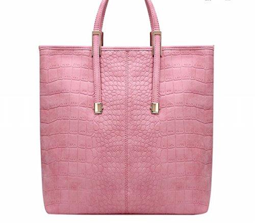 Weibliche handtasche mode wilden Eimer Schulter tasche Schulter diagonalen paket Rosa
