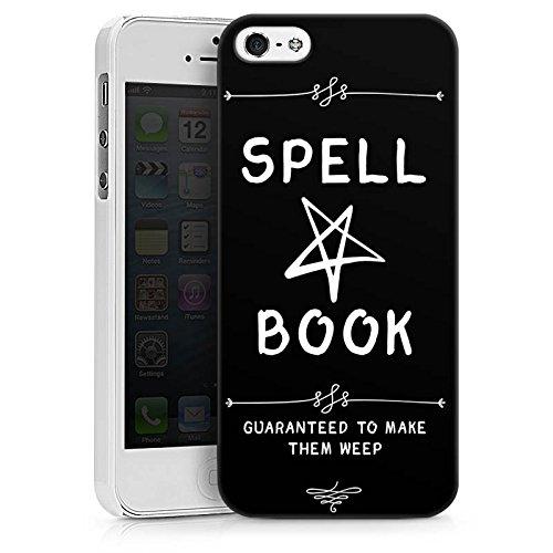Apple iPhone 6s Tasche Hülle Flip Case Halloween Zauberbuch Pentagramm Hard Case weiß