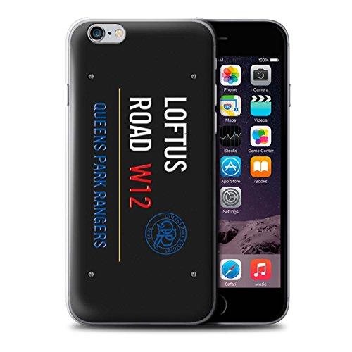 Offiziell Queens Park Rangers FC Hülle / Case für Apple iPhone 6S / Weiß/Rosa Muster / QPR Loftus Road Zeichen Kollektion Schwarz/Blau