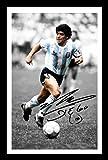 Diego Maradona Signiert und gerahmt Foto