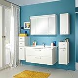 Badmöbel-Set Pelipal Piolo Badset 5tlg. B105 cm Badezimmer-Möbel Weiß/Weiß Hochglanz Badmöbel-Programm