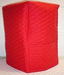 Quilted Kitchenaid 13 Cup Food Processor Cover (Red)