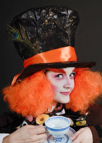 Alice Im Wunderland Hutmacher Hut Willie Wonka Kostüm Zubehör (Wunderland Alice Im Hut)