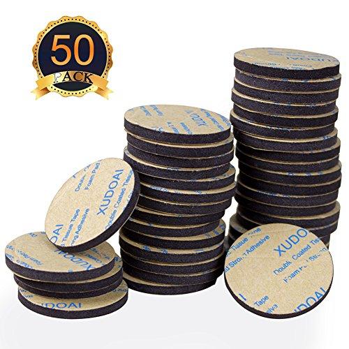 50 Stück doppelseitiges schwarzes Schaumband, XUDOAI starke Polsterbefestigung, Kleber, Rechteck...