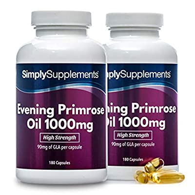 SimplySupplements Super Strength Evening Primrose Oil 1000mg|360 Capsules in total by Simply Supplements