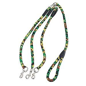 Cocopet Heavy Duty 3voies coupleur de dressage de chien Lead–Meilleur pour chiens de grandes Races–sans nœuds Laisse pour animal domestique en nylon pour la marche trois Chiens (1,5m, 2cm)