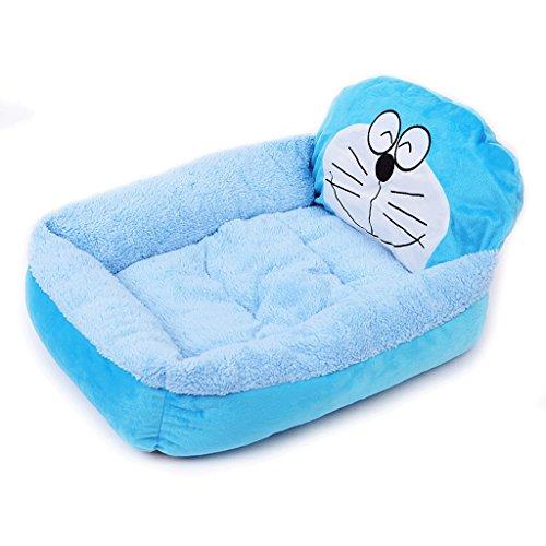 Soft Hundebett Matte Waschbar Kissen - Banana Puppies Hundebett Rutschfeste Pet Crate Matratzenauflage (Color : Blue)
