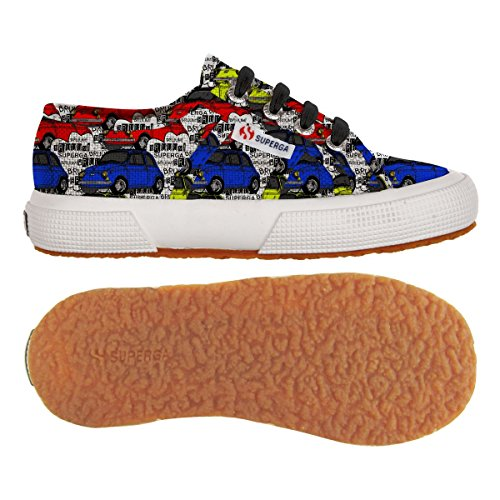 Superga 2750-FANTASY COTJ S001W90 Unisex-Kinder Sneaker Toy Cars