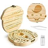 Denti salva box per bambini e bambina (italiano), Bambini in legno ricordo regalo, Accumulazione dei denti (Ragazzo)