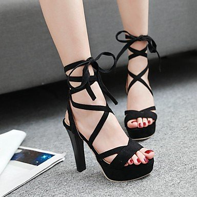LvYuan Sandali-Casual-Club Shoes-Quadrato-PU (Poliuretano)-Nero Rosso Grigio Red