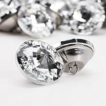 100 x 25 mm cristal Diament de piedras de cristal para sofá o sillón de patrones de costura para botones para tapicería Decor cabecero de cama
