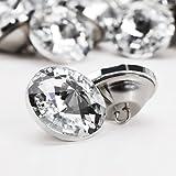100x 25mm Glas Diament Kristall Diamant Effekt Stuhl Sofa Kopfteil Polster Decor Knöpfe(25mm)