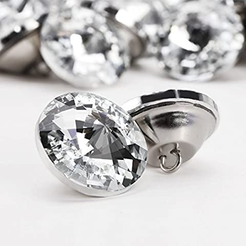 100x 25mm Glass Diament Crystal Diamond Effect Chair Sofa Headboard