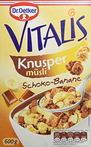 Dr. Oetker Vitalis Knusper Schoko Banane, 5er Pack (5 x 600 g) (Schoko-haferflocken)