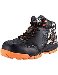 DDTX Zapatos de Seguridad de Plástico Toe Con Placa de Kevlar Lightweight Unisex-adulto Negro(39)
