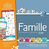 Oxford - 1 Calendrier Mensuel Famille - Janvier à Décembre 2019 - 30 x 30 cm - Visuel Aléatoires...