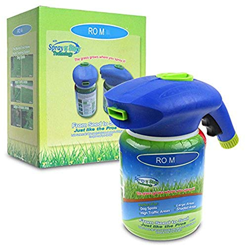 Dragon Honor Lawn Seed Spray Kettle (Without Seed) - The Grass Grows Where You Spray 2019 (Square Liquid Container)